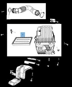 Filtro de aire motor para Fiat Freemont