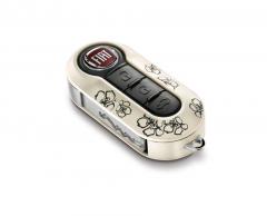 Kit de tapa para llaves Flores para Fiat 500