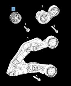 Tensor de correa fijo para Jeep