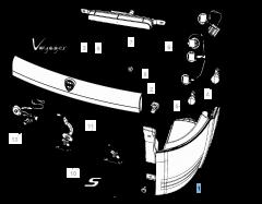 Piloto trasero (luz de posición, freno e intermitente) para Lancia Voyager