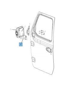 Espejo retrovisor exterior para Jeep Wrangler