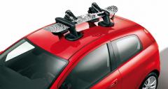 Portaesquís y portatabla de snowboard magnético de techo para Fiat
