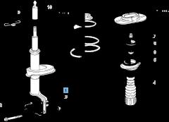 Amortiguador delantero para Fiat y Fiat Professional