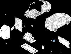 Luz matrícula derecha para Fiat Professional Scudo