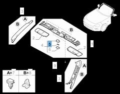 Lámpara plafón delantera 10W 12V