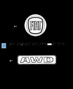 Sigla de modelo Freemont trasera para Fiat Freemont