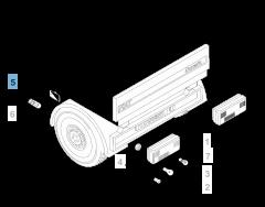 Luz de posición en caja para Fiat y Fiat Professional