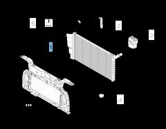 Radiador para refrigeración del motor para Fiat y Fiat Professional