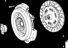 Kit embrague (plato, plato de presión y cojinete empuje axial) para Fiat y Fiat Professional