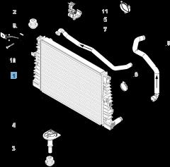 Radiador para refrigeración del motor para Alfa Romeo
