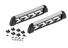 Portaesquís y portatabla de snowboard para barras portaobjetos