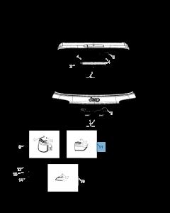 Lámpara portón trasero derecho para Jeep Compass