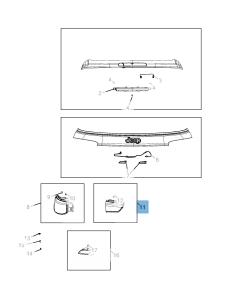 Lámpara portón trasero izquierdo para Jeep Compass
