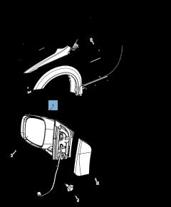 Espejo retrovisor exterior para Lancia Voyager