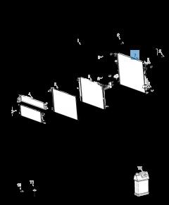 Radiador para refrigeración del motor para Jeep Wrangler
