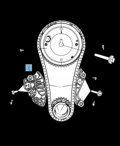 Tensor de correa regulable para cadena de distribución para Jeep