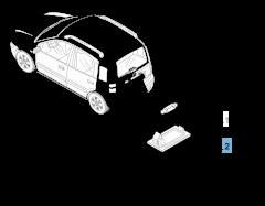 Luz matrícula para Fiat y Fiat Professional