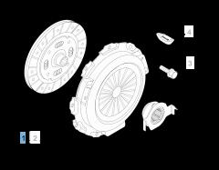 Kit embrague (plato, plato de presión y cojinete empuje axial) para Fiat Professional Fiorino