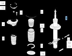 Amortiguador delantero - 2 piezas para Fiat y Fiat Professional