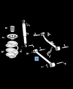 Brazo oscilante para suspensión trasera inferior para Jeep Wrangler