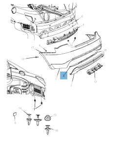 Lámpara piloto trasero para Lancia Flavia