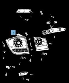 Piloto trasero (luz de posición, freno e intermitente) para Fiat Freemont