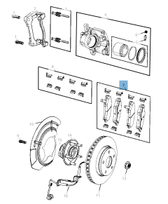 Pastilla de freno de disco delantero (set de 4 piezas) para Jeep Compass