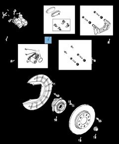 Pastilla de freno de disco trasero (set de 4 piezas) para Jeep Compass