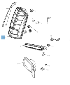 Piloto trasero (luz de posición, freno e intermitente) para Lancia Thema
