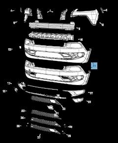 Parachoques delantero inferior para Jeep Cherokee