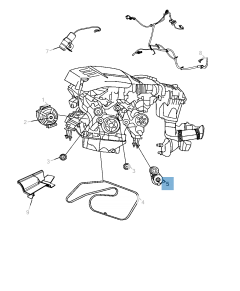Tensor de correa regulable para Jeep
