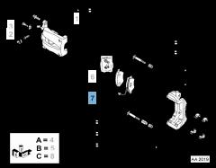Pastilla de freno de disco delantero (set de 4 piezas)