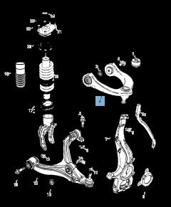 Brazo oscilante para suspensión delantera superior para Jeep Grand Cherokee