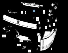 Piloto trasero para Lancia Voyager