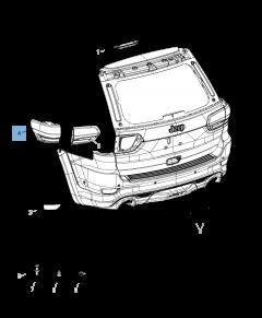Lámpara piloto trasero para Jeep Grand Cherokee