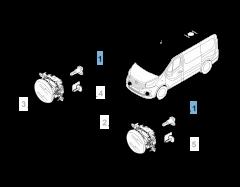 Lámpara faro antiniebla H16 para Fiat Professional Talento