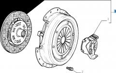 Kit embrague (plato, plato de presión y cojinete empuje axial) para Fiat Idea