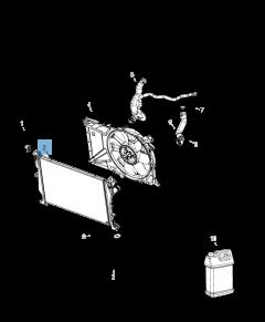 Radiador para refrigeración del motor para Jeep Compass