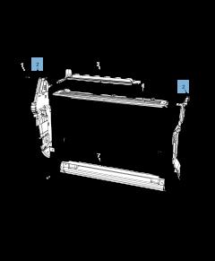 Radiador lateral para refrigeración del motor para Jeep Compass