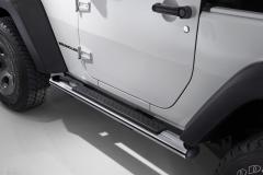 Estriberas cromadas plataformas laterales bajo carrocería para Jeep Wrangler