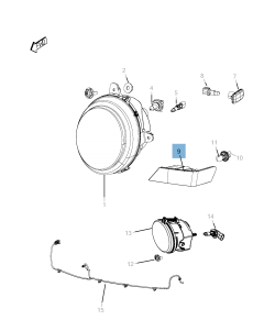 Lámpara luz de posición e intermitente para Jeep Compass/Patriot