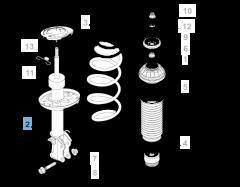 Amortiguador delantero derecho para Fiat y Fiat Professional