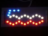 Lámparas led con logo 500 rojo y azul