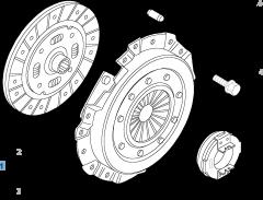 Kit embrague (plato, plato de presión y cojinete empuje axial) para Fiat Professional Ducato