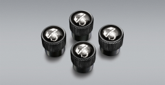 Tapones para válvulas de neumáticos con logo del Escoropión para Abarth 124 Spider