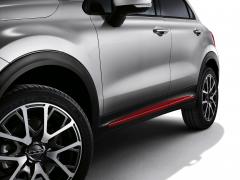 Acabados laterales rojos para puertas para Fiat 500X