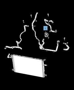 Bomba de agua del sistema de refrigeración auxiliar para Jeep Wrangler