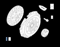 Kit embrague (plato, plato de presión y cojinete empuje axial)