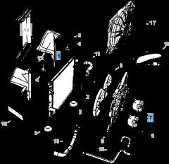 Radiador para refrigeración del motor para Lancia Thema