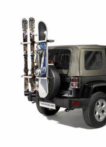 Portaesquís y portatabla de snowboard para rueda de repuesto